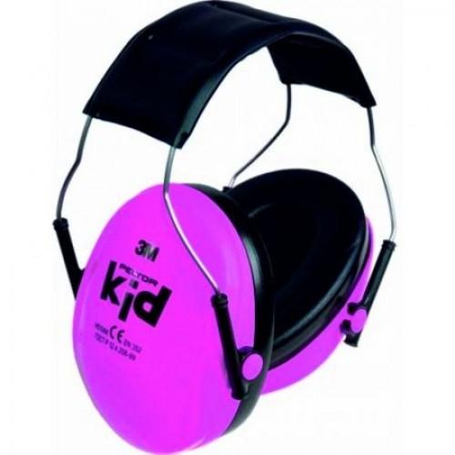 Casti de protectie auditiva pentru copii Peltor Kid, roz neon